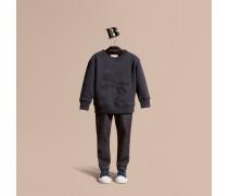Baumwoll-sweatshirt Mit Ritteremblem