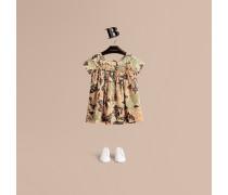 Baumwollkleid mit Smokdetails und  Beasts-Motiv