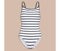 Badeanzug mit Breton-Streifen