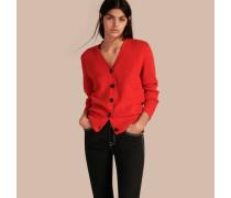 Strickcardigan aus Wolle und Kaschmir mit Check-Muster