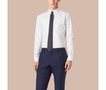 Modern geschnittenes Hemd aus Baumwollpopelin mit Button-down-Kragen