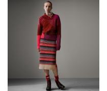 Pullover aus Kaschmir und Wolle im Patchworkdesign