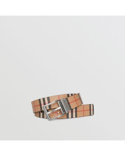 Wendbarer Ledergürtel in Vintage Check
