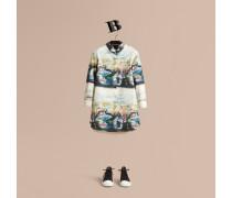 Hemdkleid mit Kunstdruck