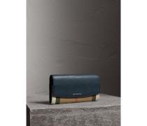 Lederbrieftasche im Kontinentalformat mit House Check-Muster