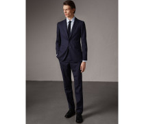 Anzug in Soho-Passform aus Wolle mit Fischgrätmuster