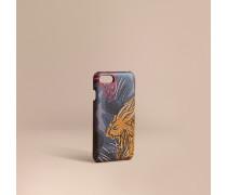 iPhone7-Etui aus London-Leder mit  Beasts-Motiv