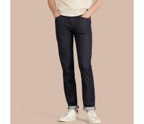 Eng Geschnittene Jeans Aus Japanischem Selvedge-denim