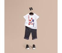T-shirt Aus Baumwolle Mit London-motiv