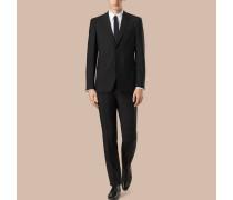 Modern geschnittener Part-Canvas-Anzug aus Wolle und Mohair