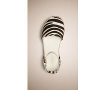 Espadrille-sandalen Mit Zebramuster
