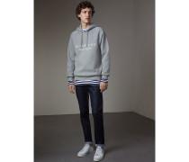 Besticktes Sweatshirt mit Kapuze