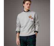 Sweatshirt aus Baumwolljersey mit Comic-Aufdruck
