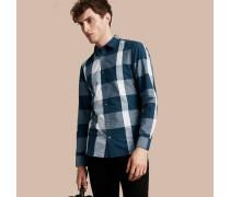 Baumwollhemd mit grafischem Check-Muster