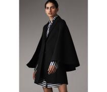 Cape-Mantel aus doppelseitig gewebter Wolle