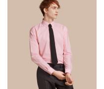 Schmal geschnittenes Hemd aus Baumwollpopelin mit Button-down-Kragen und Vichy-Muster