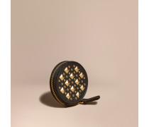 Münzbörse aus Leder mit Ziernieten