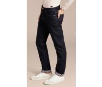 Gerade geschnittene Jeans aus japanischem Selvedge-Stretchdenim