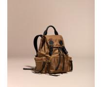 The Small Rucksack aus technischem Nylon und Leder