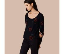 Pullover aus einer Wollmischung mit handgenähten Perlen