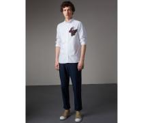 Oxford-Hemd aus Baumwolle mit  Beasts-Motiv