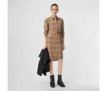 Hemdkleid im Vintage Check-Design mit Bindegürtel