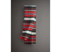 Langer Schal aus Wolle und Mohair mit Karomuster