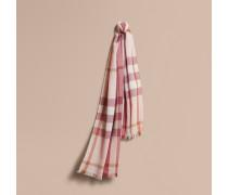 Leichter Schal aus Wolle und Kaschmir mit Karomuster