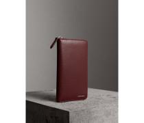 Brieftasche aus London-Leder mit umlaufendem Reißverschluss