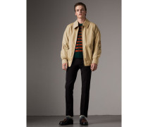 Harrington-Jacke aus Baumwollgabardine mit Comic-Motiv