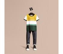 Baumwoll-T-Shirt im Streifendesign