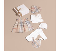 Sechsteiliges Baby-Geschenkset aus Baumwolle