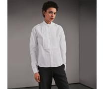 Bluse aus Stretchbaumwolle mit Biesendetail