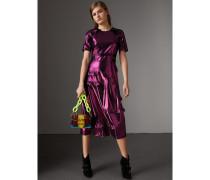 Kurzärmeliges Lamé-Kleid mit Rüschendetail - Exklusiv online
