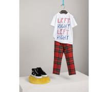 "Baumwoll-T-Shirt mit ""Left Right""-Motiv"