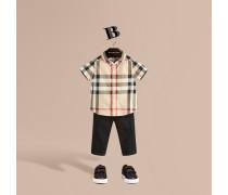 Hemd aus Baumwolltwill mit Check-Muster