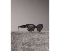 Sonnenbrille mit eckigem Gestell in Zweitonoptik