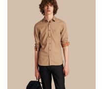 Hemd aus Baumwollflanell mit Karodetail