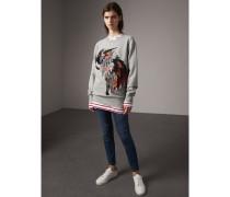Unisex-Sweatshirt aus Baumwolle mit  Beasts-Applikation
