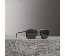 Eckige Sonnenbrille aus Metall