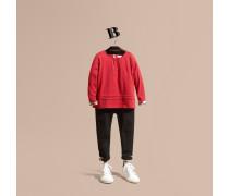 Langärmeliges T-shirt Aus Baumwolle Mit Check-muster Und Faltendetail