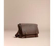 Messenger-Tasche aus genarbtem Leder