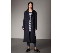 Mantel aus Wolle und Kaschmir mit Rüschenkragen