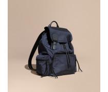 The Large Rucksack aus technischem Nylon und Leder