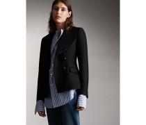 Zweireihiges Jackett aus Wolle und Baumwolle