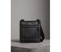 Crossbody-Tasche aus London Check-Gewebe mit Lederbesatz