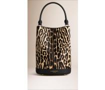 Die Tasche Burberry Bucket Aus Kalbfell In Animal Print