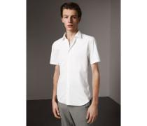 Kurzärmeliges Hemd aus Baumwollpopelin