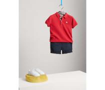 Chino-Shorts aus Baumwolle mit Check-Detail