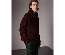 Pullover aus Wolle und Kaschmir mit Schalkragen